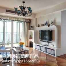 精美88平方二居客厅地中海装饰图