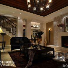 113平米欧式别墅客厅装饰图片大全