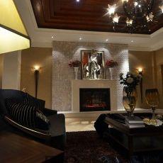 精选面积125平别墅客厅欧式装修欣赏图片