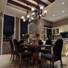 热门面积120平别墅餐厅欧式设计效果图