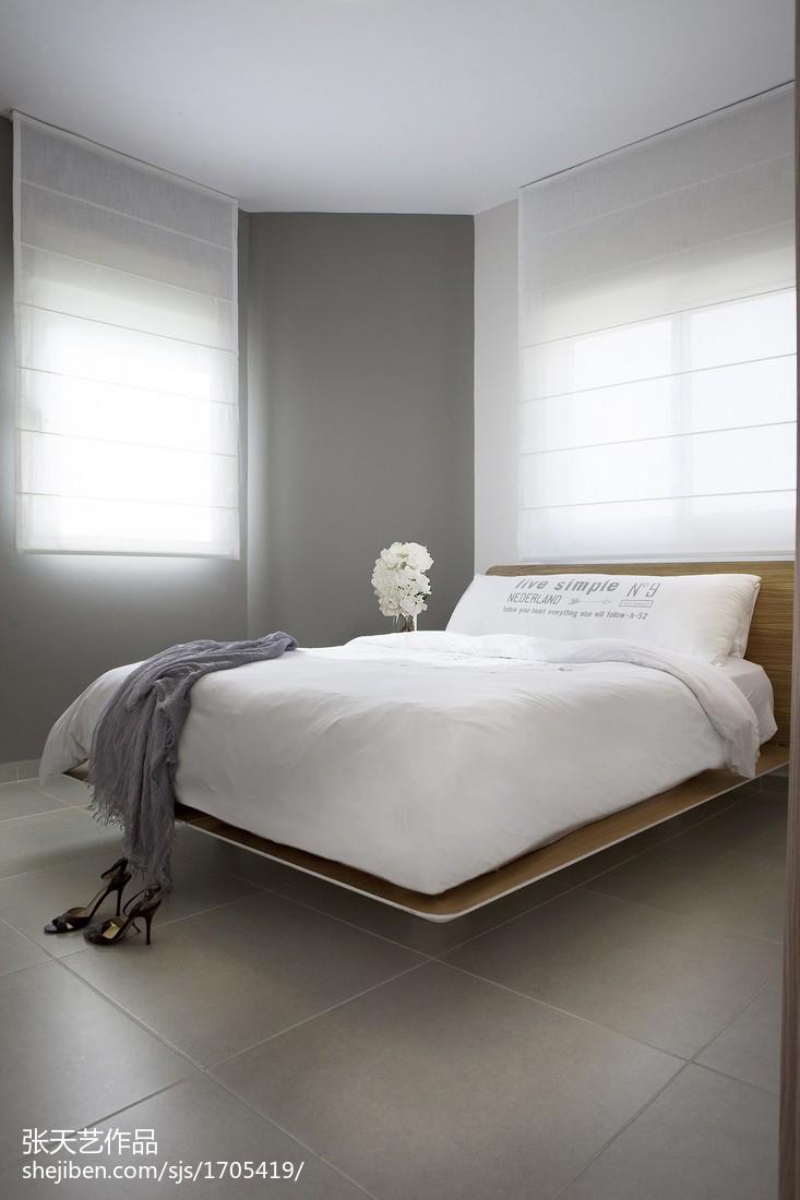 精选大小109平现代三居卧室效果图片