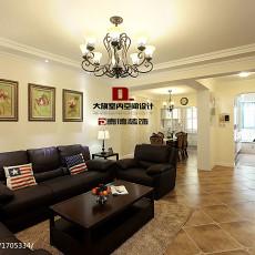 面积100平美式三居客厅装修效果图片大全