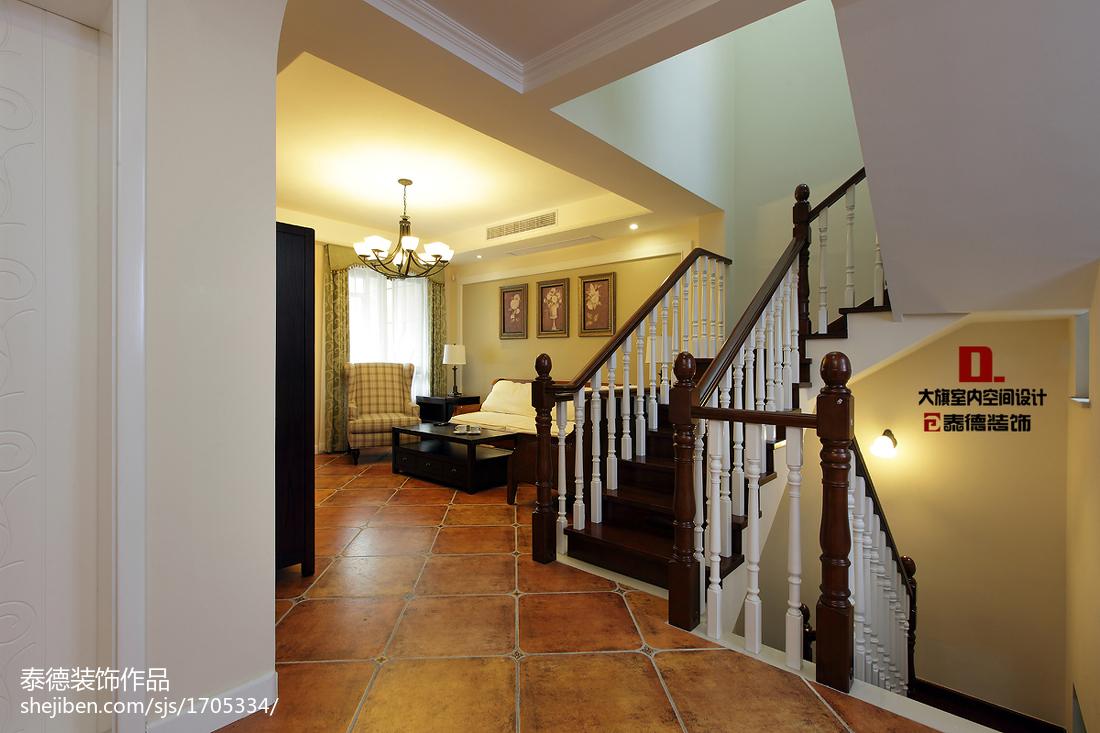 精选128平米美式复式客厅装修效果图片大全