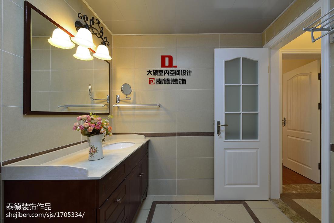 热门三居卫生间美式效果图片欣赏