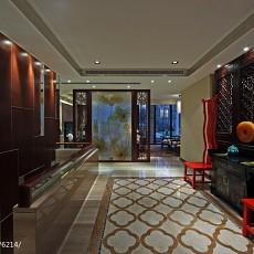 精选面积126平别墅玄关中式装饰图片大全