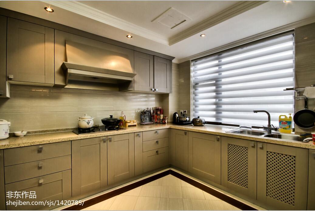 新中式风格厨房窗户装修效果图