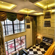 精美面积139平别墅客厅中式装修设计效果图