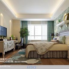 91平米三居卧室美式装修设计效果图片大全