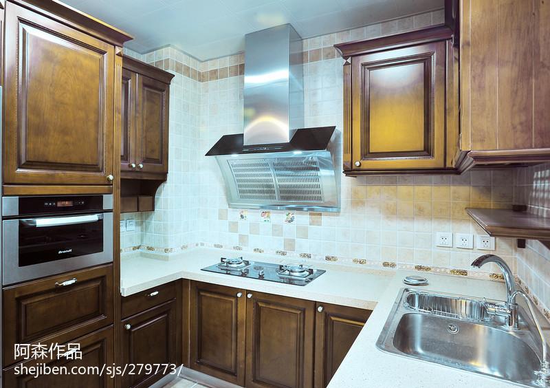 熱門中式復式廚房裝修實景圖