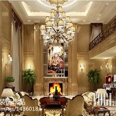 精美120平米欧式别墅客厅装修实景图片大全