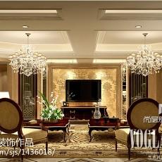 精美130平方欧式别墅客厅实景图片