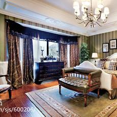 热门大小137平别墅卧室美式装修效果图片大全