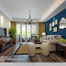 99平米三居客厅美式装饰图片欣赏