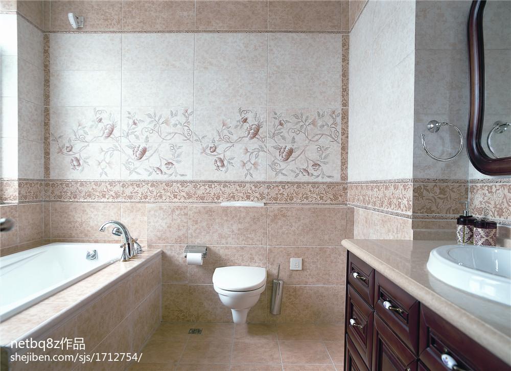 欧式别墅卫生间设计效果图