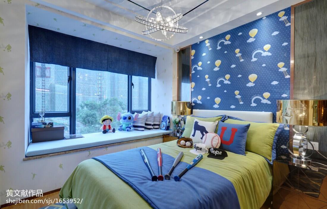 現代兒童房飄窗裝修效果圖大全