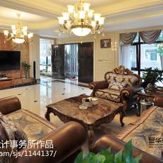 热门134平米美式别墅客厅实景图片大全
