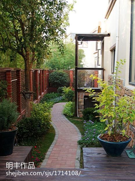 热门面积135平别墅花园中式装修效果图片欣赏