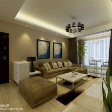 精选97平米三居客厅现代实景图片