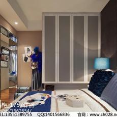 2018大小93平现代三居卧室装修效果图片