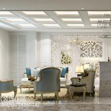 精选121平米欧式别墅客厅装修实景图片