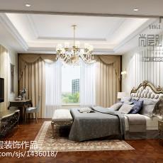 精美134平米欧式别墅卧室装修设计效果图