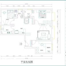 精选91平米三居客厅现代装修图