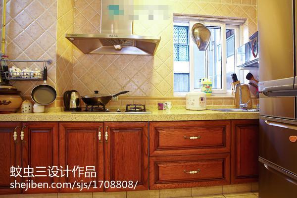 面积108平欧式三居厨房欣赏图片大全