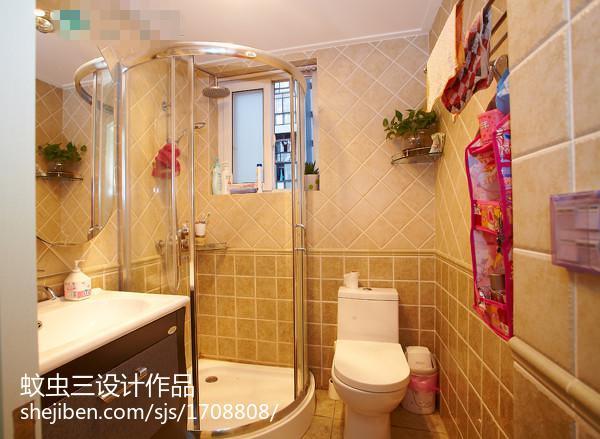 热门105平米三居卫生间欧式欣赏图