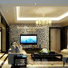 精选106平大小客厅三居现代装修效果图片大全