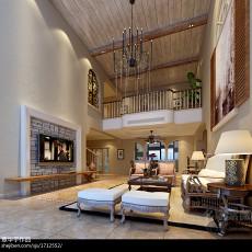 精美复式客厅东南亚装修欣赏图片