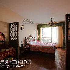 精美107平米三居卧室美式装修图片欣赏