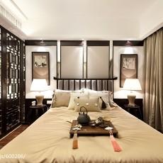 中式风格卧室隔断装修效果图大全2017图片