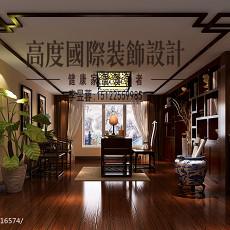 精美面积131平别墅书房欧式设计效果图