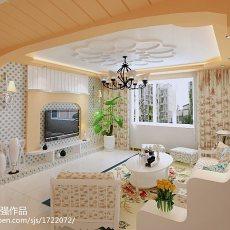 2018精选面积90平田园三居客厅装修欣赏图片