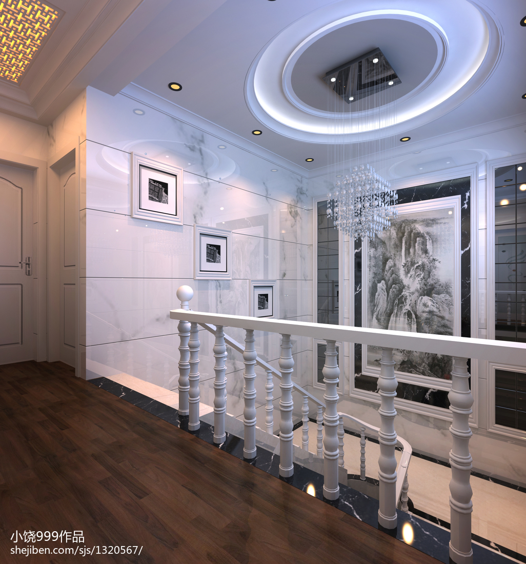 家庭楼梯护栏照片