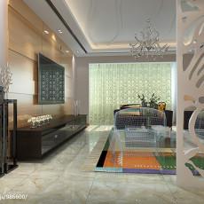 精选面积103平现代三居客厅装修实景图