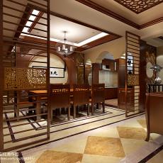热门126平米中式别墅餐厅装修设计效果图片大全
