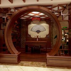 热门中式别墅书房装饰图