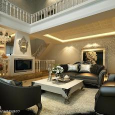 热门123平方欧式别墅客厅装修实景图片