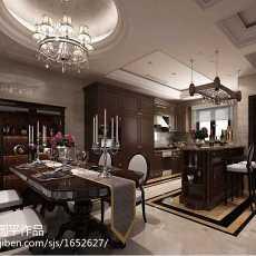 大小139平别墅餐厅欧式实景图