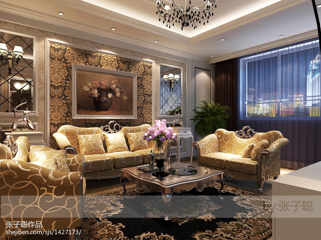 2018面积83平欧式二居客厅装修欣赏图