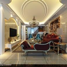 精美面积125平别墅客厅欧式装修图片欣赏