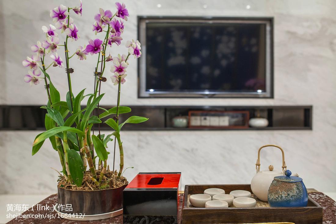 精选大小93平中式三居客厅效果图片