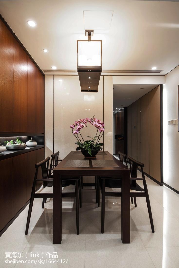 面积105平中式三居餐厅欣赏图片大全