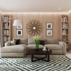 大小90平现代三居客厅装饰图片大全