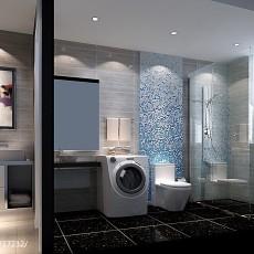 现代二居卫生间装修效果图片欣赏