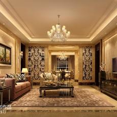 107平米三居客厅欧式欣赏图