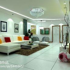 2018大小107平现代三居客厅装饰图