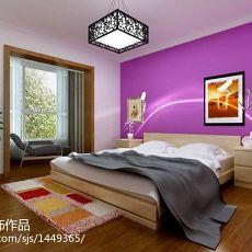 精美93平米三居卧室现代实景图片