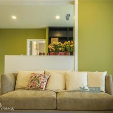 精美面积105平田园三居客厅装修欣赏图片